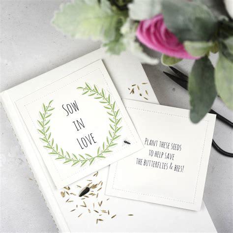 Wedding Favors Flower Seeds by Wildflower Seed Wedding Favor Packets Sow In By Ovo