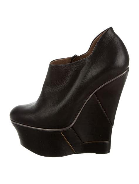 lanvin platform wedge booties shoes lan37101 the