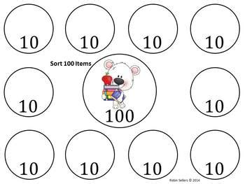100 Day Sort Mat by 100th Day Of School Activities By Robin Sellers Tpt