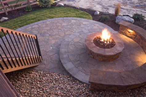 Flagstone Patio With Firepit 31 Patio Fireplaces Creating Outdoor Living Room Spaces