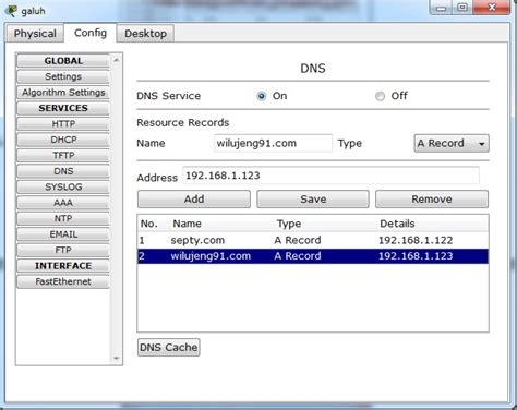 cara konfigurasi dns dan web server cara konfigurasi dns server di cisco cara konfigurasi mail