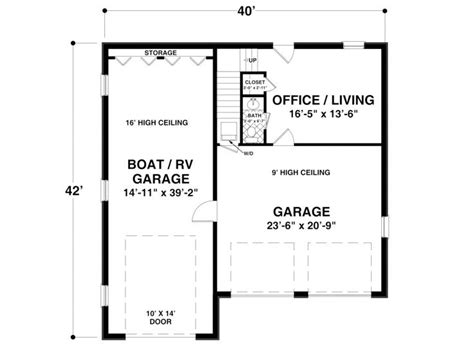 Rv Storage Plans garage plans with boat storage boat storage garage plan