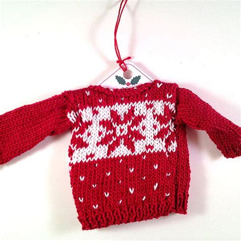 knit pattern christmas sweater christmas sweater ornament knitting pattern fair isle set