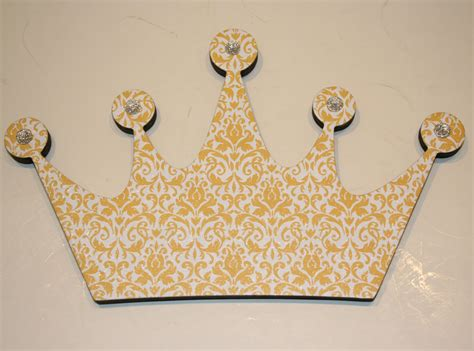 princess crown wall decor yellow and white wall decor wall