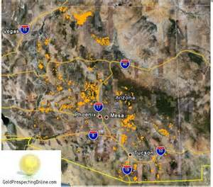 where is gold arizona on a map arizona gold prospecting equipment tips gold maps