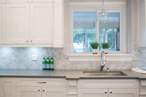 grey quartz countertops kitchen contemporary with bianco carrara marble subway beeyoutifullife