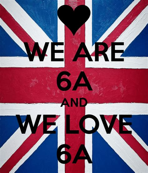 Uk Wall Stickers we are 6a and we love 6a keep calm and carry on image
