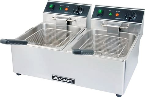 table top fryer commercial adcraft df 6l 2 commercial countertop tank