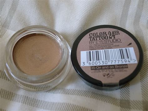 tattoo eyeshadow maybelline colour 24 hour eyeshadow review