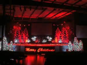 christmas decorations on a stage christmas ridges