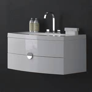 Designer Bathroom Accessories durab melina 920 wall mounted vanity unit with basin