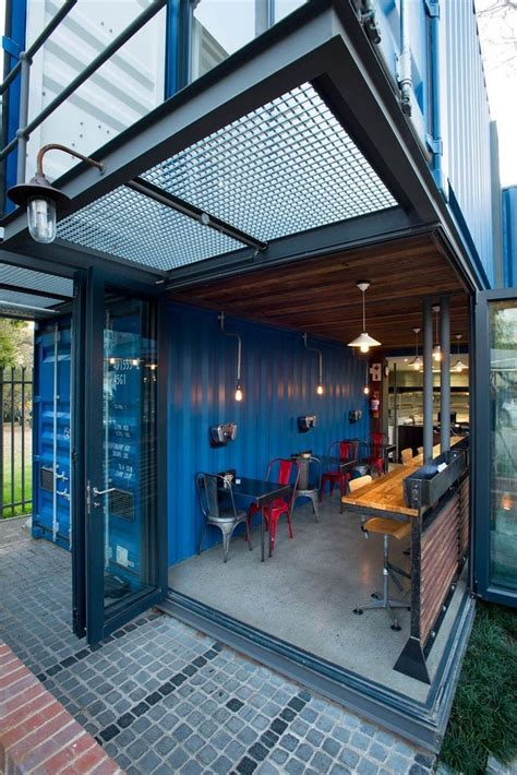coffee shop built  shipping containers container