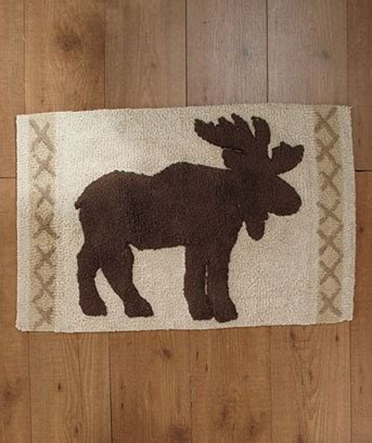 Rustic Bathroom Rugs Lodge Cabin Moose Rustic Bathroom Collection Shower Curtain Rug Towels Ebay