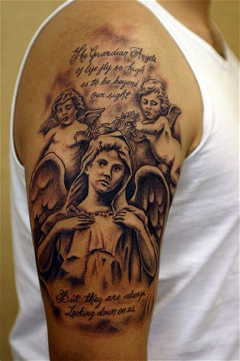 guardian angel tattoo for men baby designs fashion club