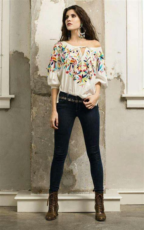 353 best moda mexicana y latina images on pinterest hermosa blusa bordada mexicana vintage style mi estilo