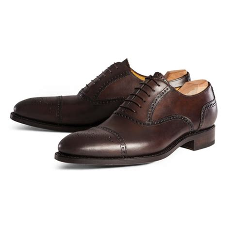 Handmade Brogues Uk - cap toe oxford chocolate uk 6 5 handmade brogues