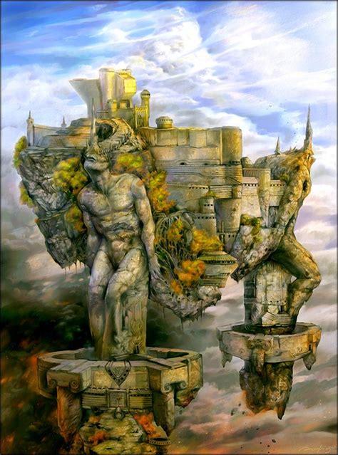 stunning fantasy landscape illustrations