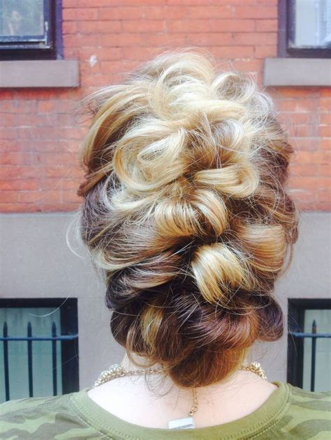 cornrows and loose bun romantic updo loose braid braids hairstyles for long