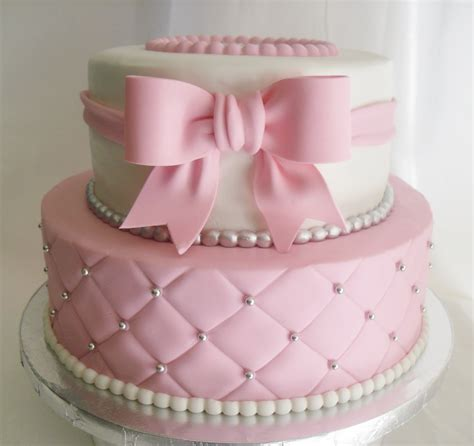made fresh daily quilted pink and white baby shower cake girl baby shower cakes 1600x1507