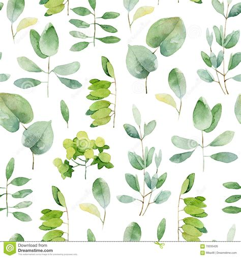 leaf pattern illustrator seamless herbal pattern stock illustration illustration