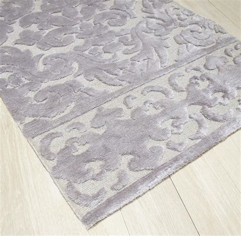 10x14 Rugs Wool by Calandra Silver Knotted Tibetan Wool Rug 10x14