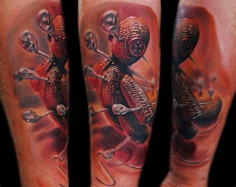 voodoo doll tattoos tofi torfinski voodoo doll design of