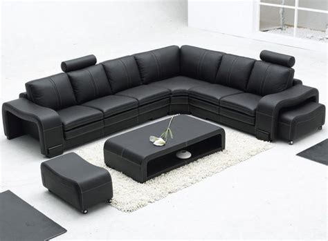 Contemporary Black Leather Sofa Black Leather Sofa Modern Sofas Los Angeles By Furniture