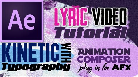tutorial after effects lyric video how to make kinetic typography in a lyric video tutorial