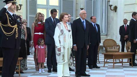 sede presidente della repubblica l inno di mameli in occasione ricevimento nei giardini