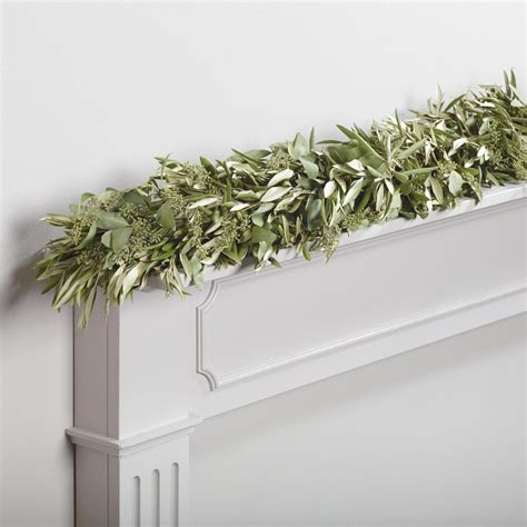 live 6 olive and eucalyptus garland world market