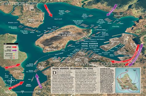 map of hawaii showing pearl harbor swimnova