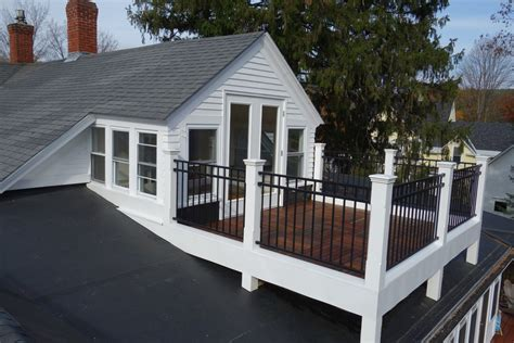 gutterless roofs home design forum roof over deck rooftop deck on pitched roof interiors design