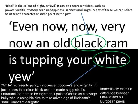 othello themes race quotes othello black and white imagery