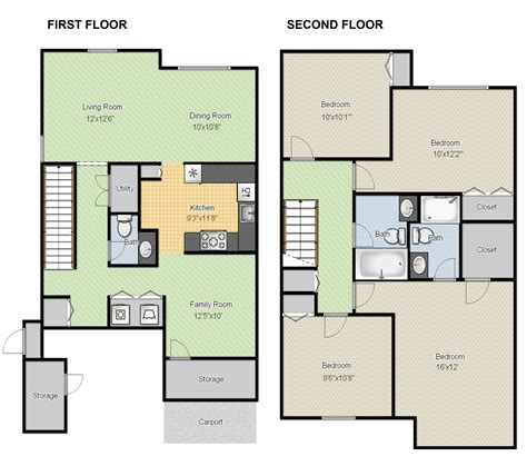 Free Floor Plan Maker With 3d Home Plans Rectangular Room | 25 more 3 bedroom 3d floor plans simple free house plan