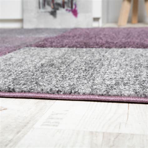 tappeto viola tappeto motivo rettangoli viola beige tapetto24