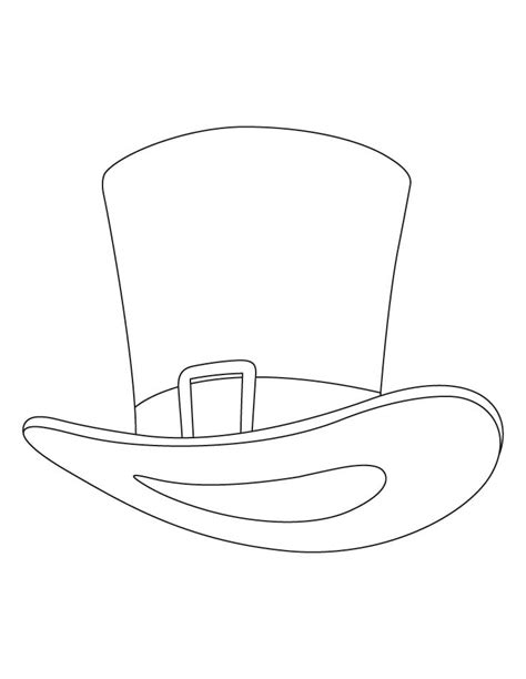 Free Printable Top Hat Coloring Page Coloring Home Hat To Color