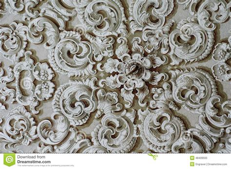 l plafond ornament ornament baroque detail ceiling stock photo image 48409593