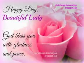 happy day beautiful god bless you christian cards for you