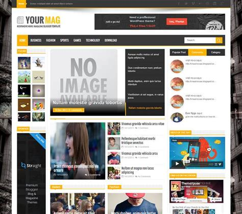 yourmag magazine blogger template 187 abtemplates com