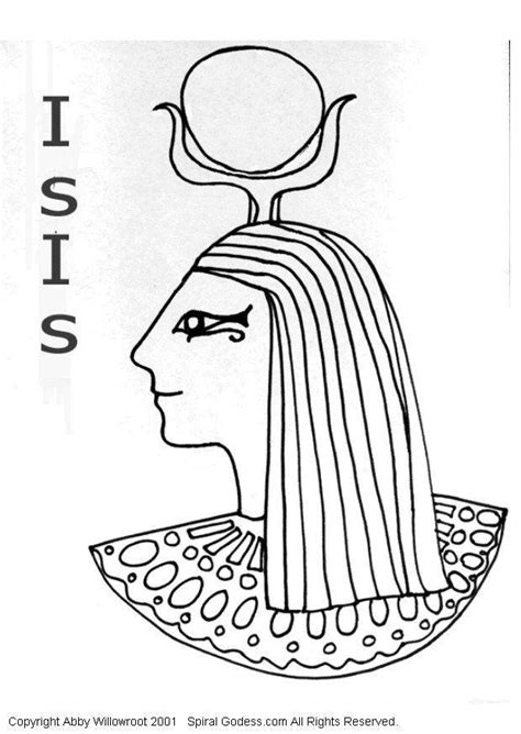 imagenes egipcias isis dibujo para colorear isis img 6051