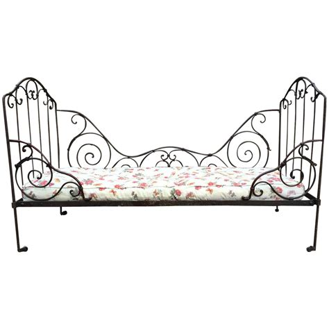 Wrought Iron Daybed Antique Daybed 19th Century Casters Wrought Iron At 1stdibs