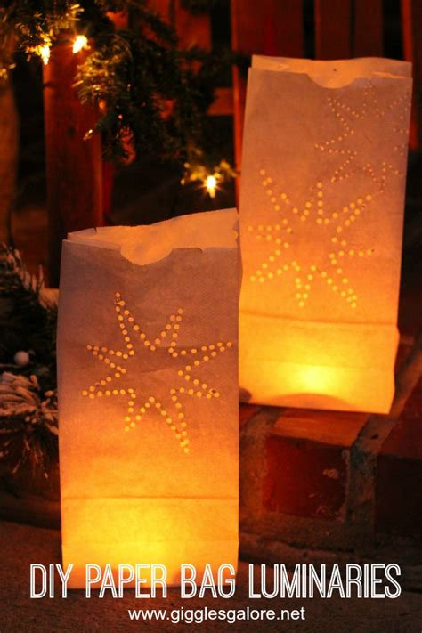 How To Make Paper Luminaries - diy paper bag luminaries giggles galore