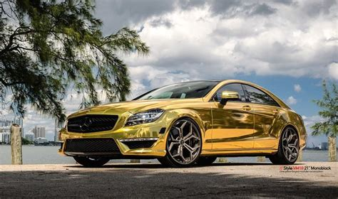 gold mercedes gold mercedes cls63 amg by mc customs