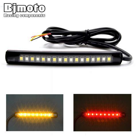 led motorcycle brake lights strips ᑐbjmoto universal led car car motorcycle brake lights ᑐ turn turn signal light 17