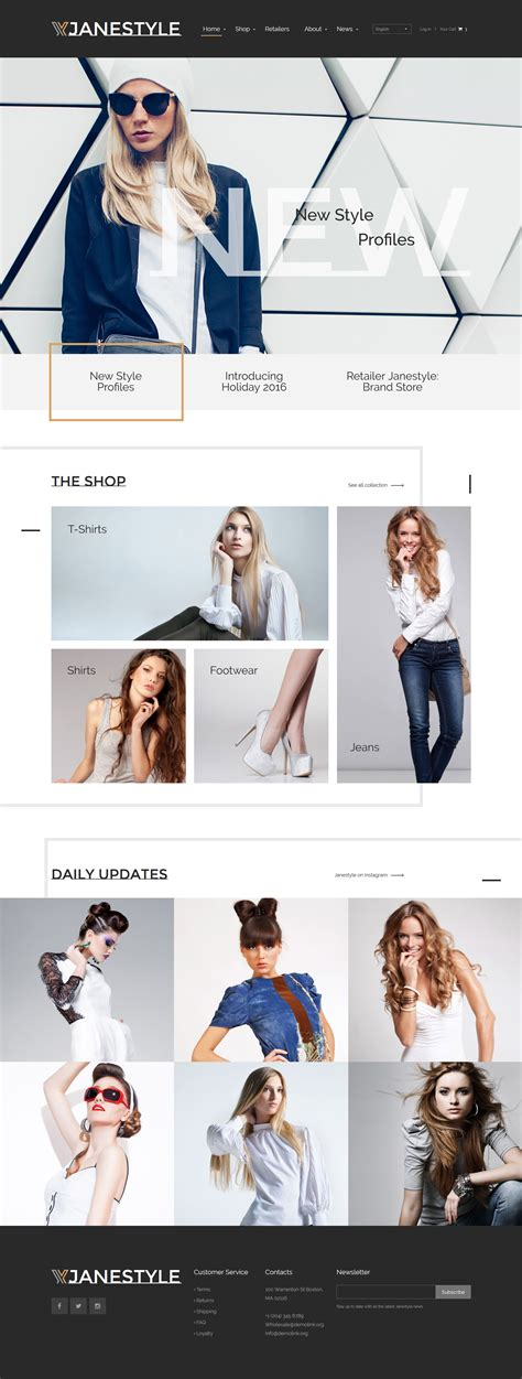 templates for fashion website fashion web template
