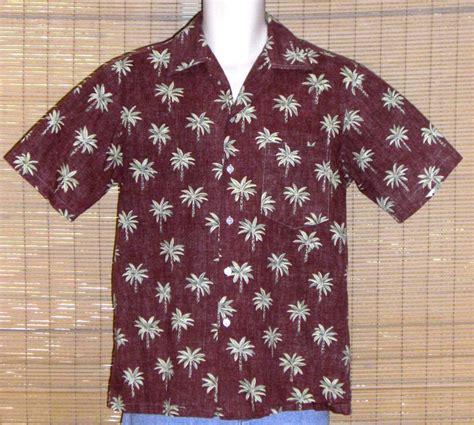 pattern hawaiian shirt malihini hawaii hawaiian shirt 1965 brown olive reverse