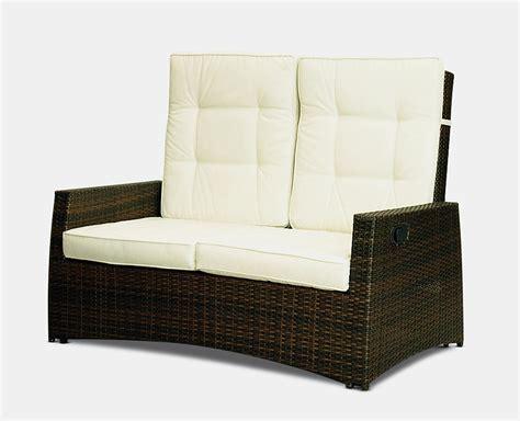 outdoor reclining loveseat florence outdoor reclining rattan patio garden furniture