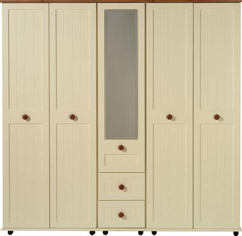 Tetsworth 5 Door Wardrobe With 1 Mirror And 2 Drawers 5 Door Wardrobe Bedroom Furniture