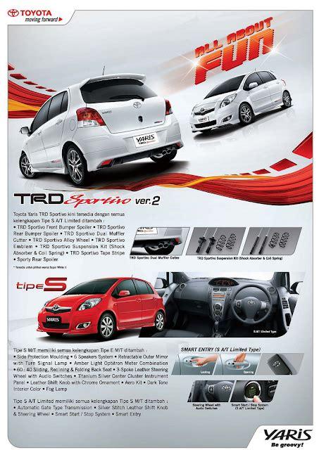 Mobile All Tipe harga mobil toyota all new yaris tipe e g trd s baru