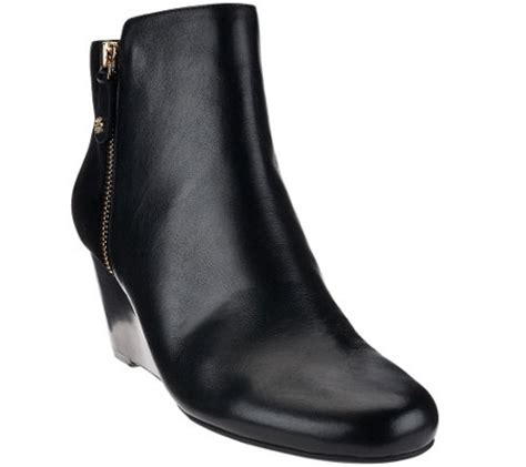 qvc ankle boots isaac mizrahi live wedge ankle boots with a273311 qvc